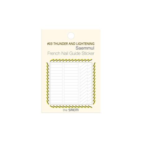 The Saem Saemmul Frenchnail Guide Sticker 03.Thunder And Lightening