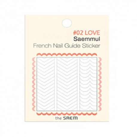 The Saem Saemmul Frenchnail Guide Sticker 02.Love