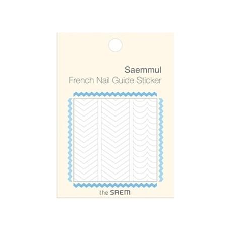 The Saem Saemmul Frenchnail Guide Sticker 01.Zigzag