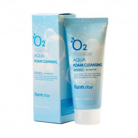 Farmstay O2 Premium Aqua Foam Cleansig