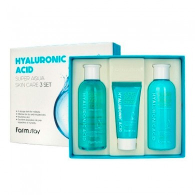 Farmstay Hyaluronic Acid Super Aqua Skin Care 3set