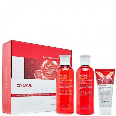 Farmstay Collagen Essential Moisture Skin Care 3set