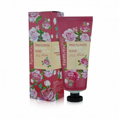 Farmstay Pink Flower Blooming Hand Cream Pink Rose
