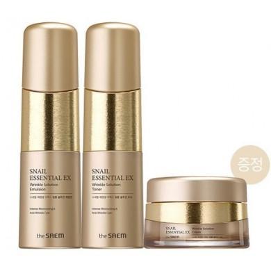 Snail Essential Ex Wrinkle Solution Skin Care 2 Set