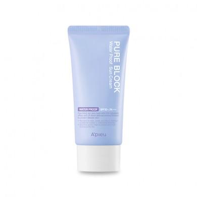 A'PIEU Pure Block Natural Waterproof Sun Cream SPF50+/PA+++