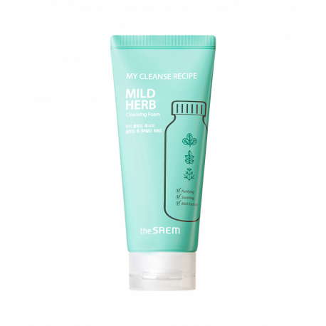 The Saem My Cleanse Recipe Cleansing Foam-Mild Herb