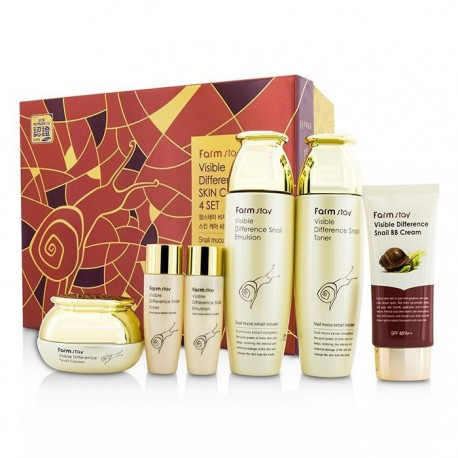 Farmstay Visible Difference Snail Skin Care 4 Set