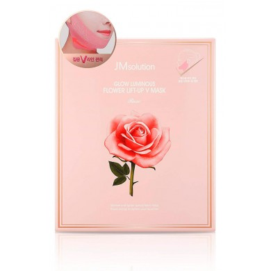 Jmsolution Glow Luminous Flower Lift-Up V Mask Rose