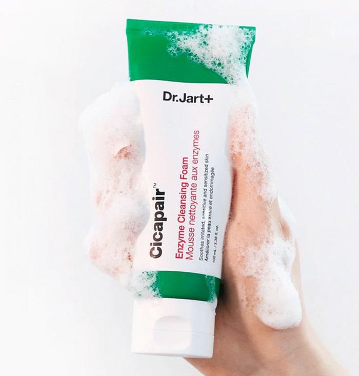 Dr.Jart+ Cicapair Enzyme Cleansing Foam Энзимная пенка для проблемной и чувствительной кожи фото 2 / Sweetness
