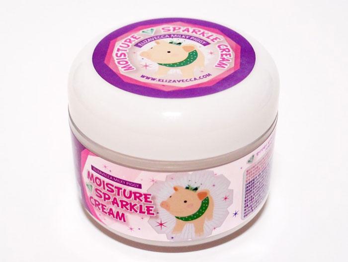 Elizavecca Milky Piggy Moisture Sparkle Cream Увлажняющий крем для лица с эффектом сияния кожи фото 1 / Sweetness