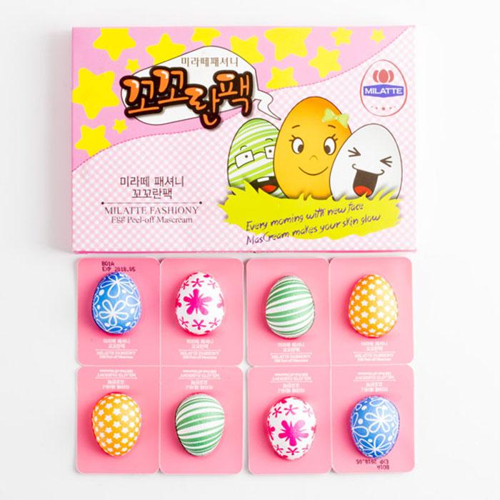 Milatte Fashiony Egg Peel-Off Cream Pack Набор кремовых пилинг-масок Яйца фото 1 | Sweetness
