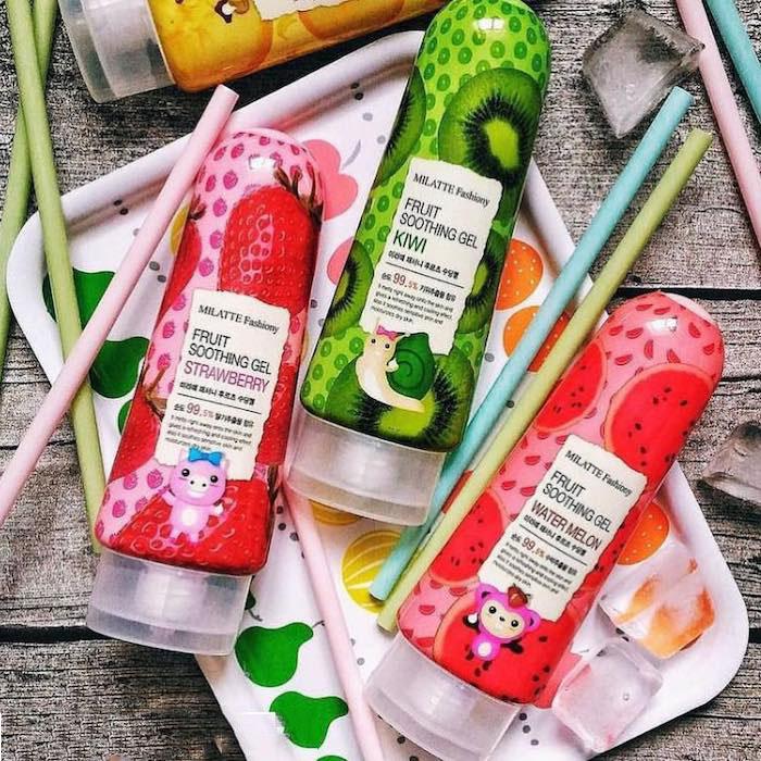 Milatte Fashiony Fruit Soothing Gel Фруктовые увлажняющие гели фото 2 | Sweetness