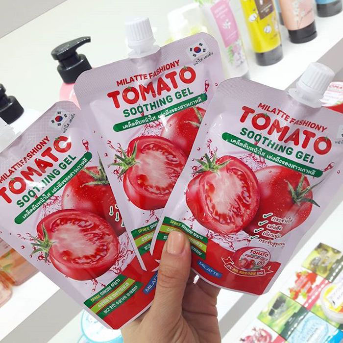 Milatte Fashiony Tomato Soothing Gel Pouch Осветляющий гель с экстрактом томата фото 2 | Sweetness
