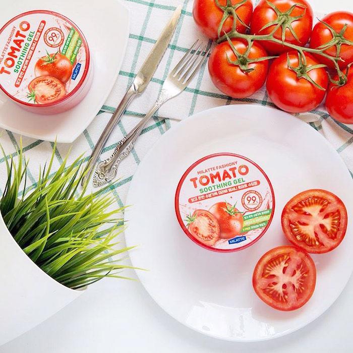 Milatte Fashiony Tomato Soothing Gel Осветляющий гель с экстрактом томата фото 2 | Sweetness