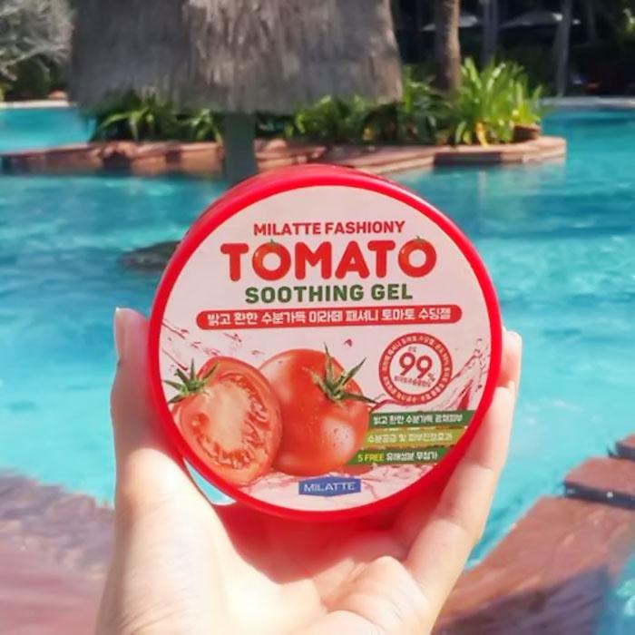 Milatte Fashiony Tomato Soothing Gel Осветляющий гель с экстрактом томата фото 3 | Sweetness