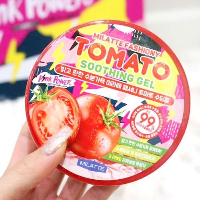 Milatte Fashiony Tomato Soothing Gel Осветляющий гель с экстрактом томата фото 4 | Sweetness