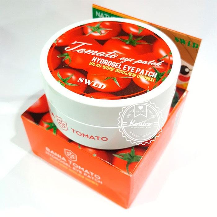 Swld Bania Tomato Hydrogel Eye Patch Гидрогелевые патчи с Томатом, 60шт.-01