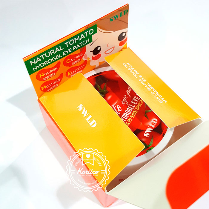 Swld Bania Tomato Hydrogel Eye Patch Гидрогелевые патчи с Томатом, 60шт.-02