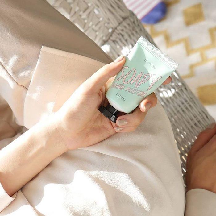 Парфюмированный крем для рук The Yeon Soapy Hand Perfume_Cotton фото 2 | Sweetness корейская косметика