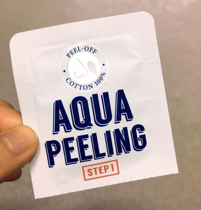 Двухшаговый набор для удаления черных точек A'PIEU Aqua Peeling Black Head Swab фото 3 | Sweetness