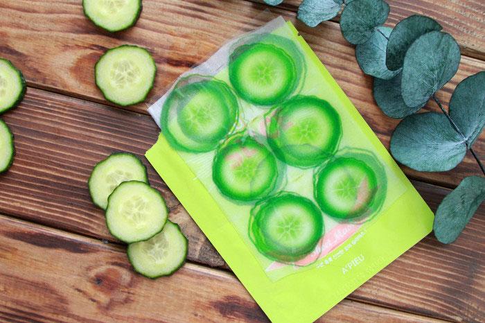 Маски-слайсы Огурец A'PIEU Cucumber Slice Sheet Mask фото 2   Sweetness