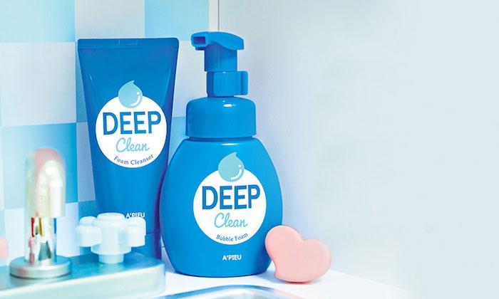 Пенка для умывания-мусс для глубокого очищения A'PIEU Deep Clean Bubble Foam фото 3 | Sweetness