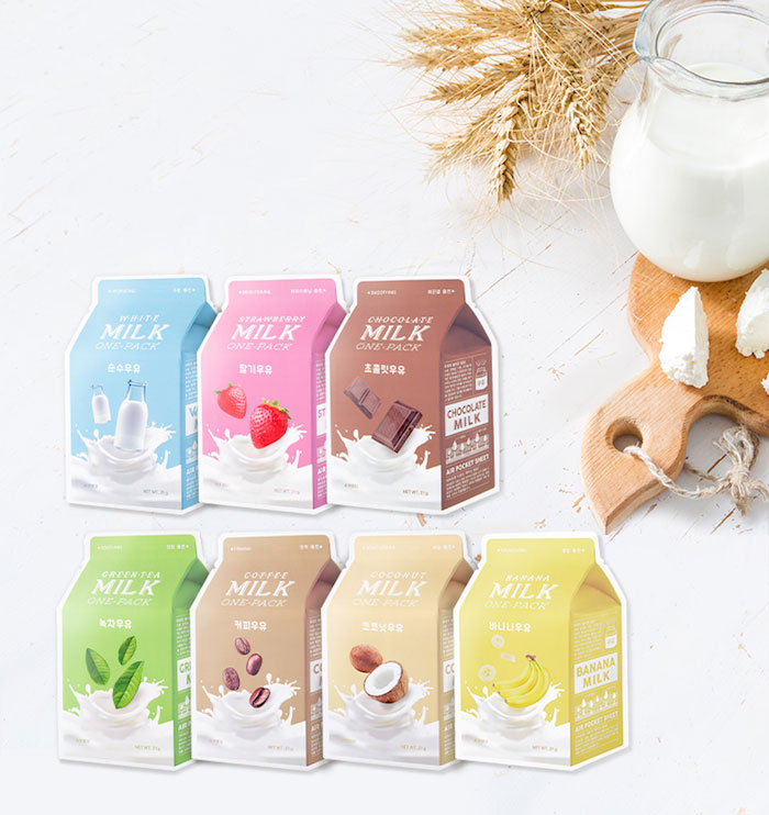 Тканевые молочные маски A'PIEU Milk One Pack фото 1 | Sweetness