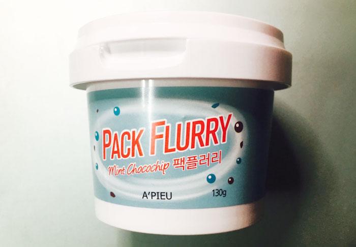 Маска скраб Мороженко A'PIEU Pack Flurry фото 5 | Sweetness