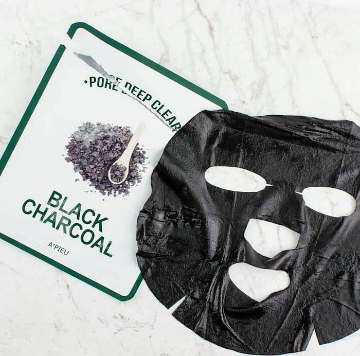 Угольная очищающая Тканевая маска A'PIEU Pore Deep Clear Black Charcoal Mask фото 1 | Sweetness