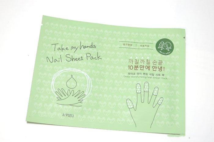 Пальчиковая маска для ногтей A'PIEU Take My Hand Nail Sheet Pack фото 1 | Sweetness