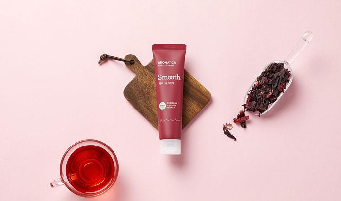 AROMATICA Hibiscus Color Protection Leave-in Hair Mask Маска для окрашенных волос с защитой цвета фото 1 | Sweetness