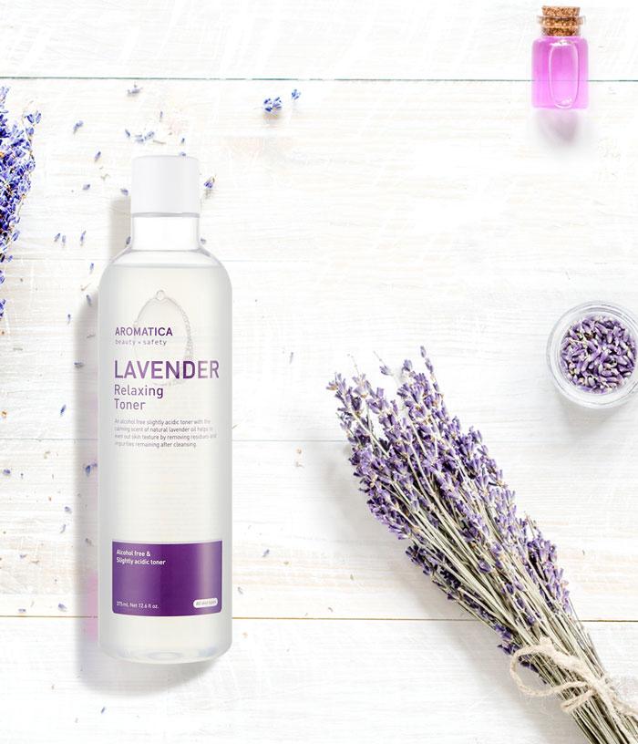 Слабокислотный расслабляющий тонер с эфирным маслом лаванды AROMATICA Lavender Relaxing Toner фото 1 | Sweetness корейская косметика