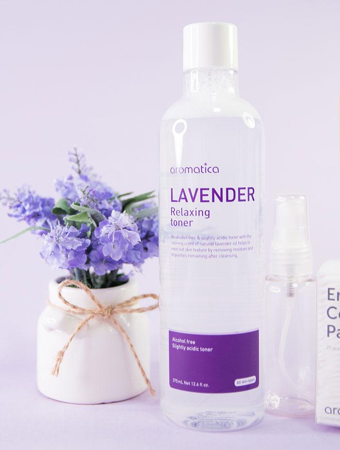 Слабокислотный расслабляющий тонер с эфирным маслом лаванды AROMATICA Lavender Relaxing Toner фото 2 | Sweetness корейская косметика