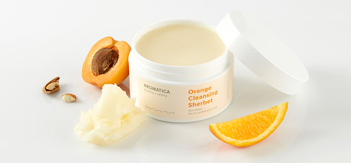 Очищающий щербет на основе апельсинового масла холодного отжима AROMATICA Orange Cleansing Sherbet фото 2 | Sweetness