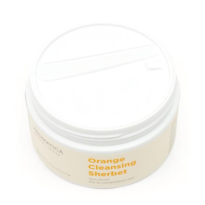Очищающий щербет на основе апельсинового масла холодного отжима AROMATICA Orange Cleansing Sherbet фото 3 | Sweetness