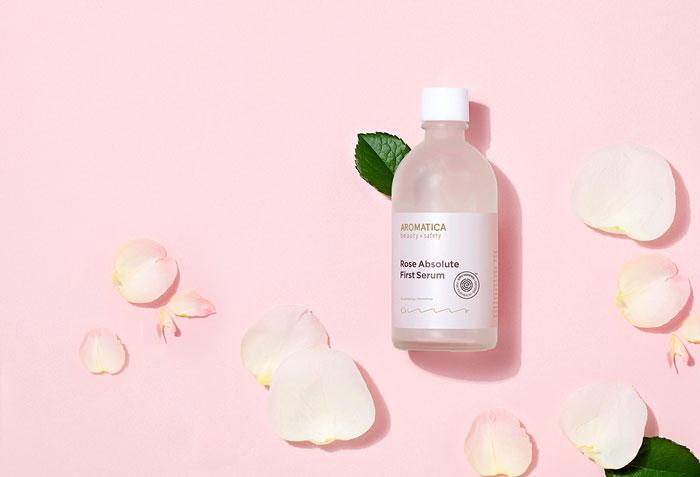 AROMATICA Rose Absolute First Serum Органическая сыворотка для лица с эфирным маслом розы фото 2   Sweetness