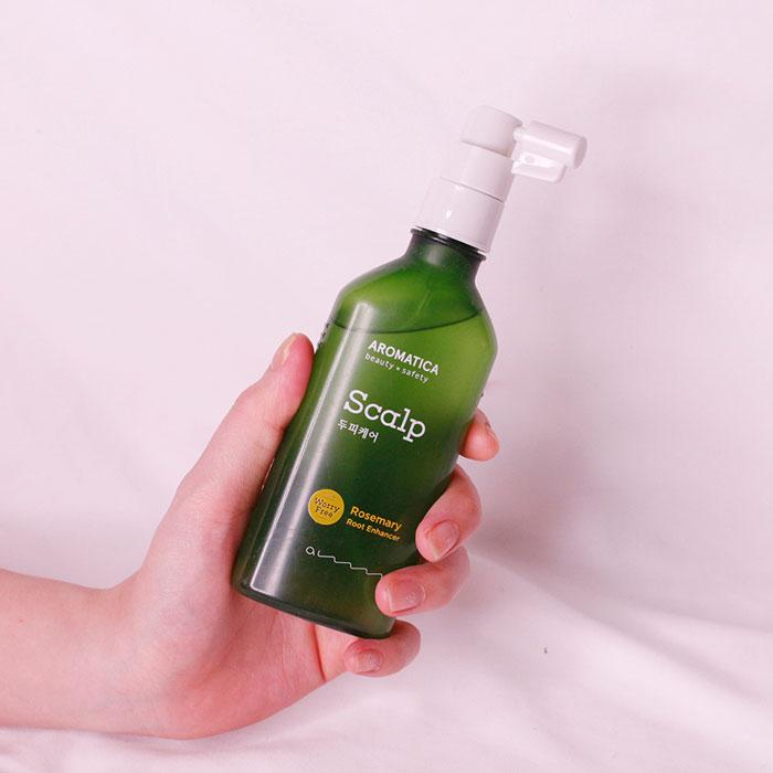 Тоник для укрепления и усиления роста волос с розмарином AROMATICA Rosemary Root Enhancer фото 2 | Sweetness корейская косметика