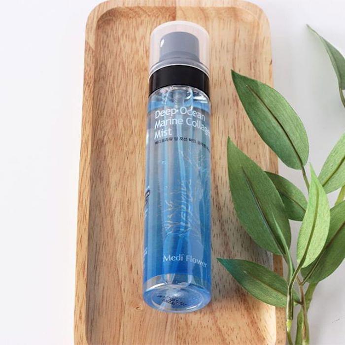 Увлажняющий спрей с морским коллагеном Medi Flower Deep Ocean Marine Collagen Facial Mist фото 2 / Sweetness