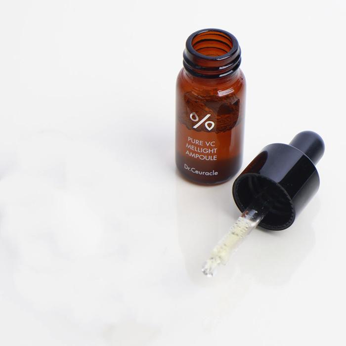 Антивозрастная сыворотка с аскорбиновой кислотой, фуллеренами и идебеноном Dr. Ceuracle Pure VC Mellight Ampoule фото 3 | Корейская косметика Sweetness