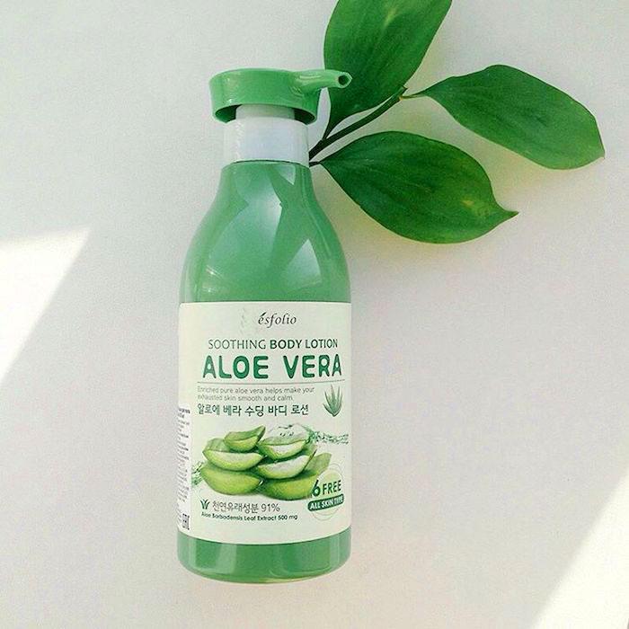 Esfolio Aloe Vera Soothing Body Lotion Лосьон для тела с алоэ фото 2   Корейская косметика Sweetness