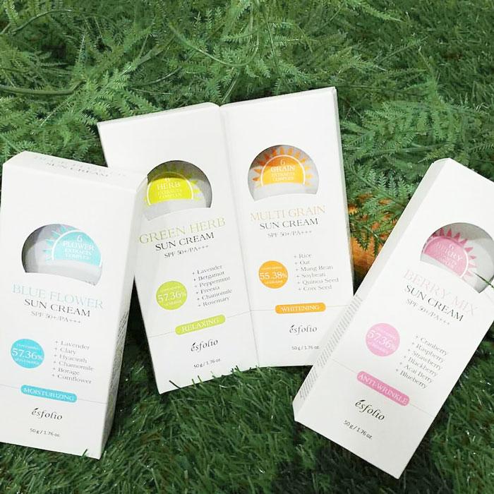 Ягодный солнцезащитный крем Esfolio Berry Mix Sun Cream SPF 50+/PA+++ фото 1 | Sweetness