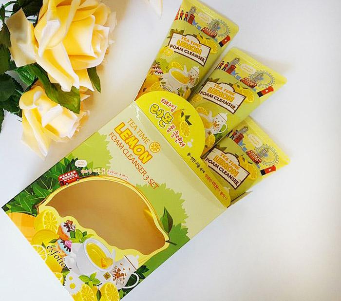 Esfolio Tea Time Lemon Foam Cleanser Пенка для умывания чай с лимоном фото 2 | Sweetness