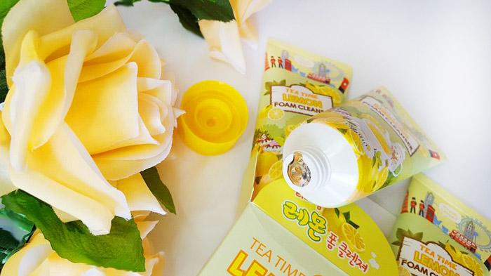 Esfolio Tea Time Lemon Foam Cleanser Пенка для умывания чай с лимоном фото 3 | Sweetness