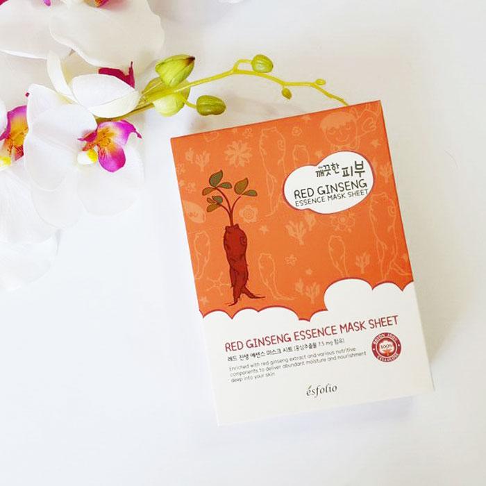Esfolio Pure Skin Essence Mask Sheet Тканевая маска c красным женьшенем фото 1 | Корейская косметика Sweetness
