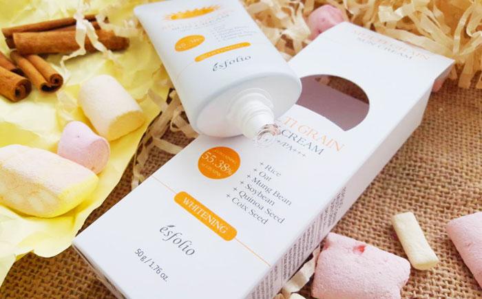 Esfolio Multi Grain Sun Cream SPF 50+/PA+++ Солнцезащитный крем с рисовым экстрактом фото 2 | Sweetness