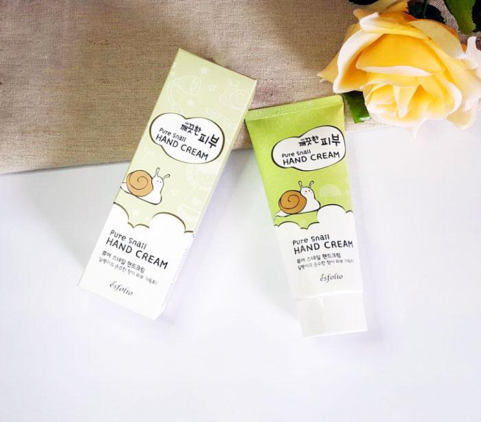 Esfolio Pure Skin Pure Snail Hand Cream Улиточный крем для рук фото 1 | корейская косметика Sweetness