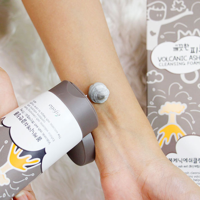 Esfolio Pure Skin Volcanic Ash Cleansing Foam Пенка для умывания с вулканическим пеплом фото 2 | Sweetness