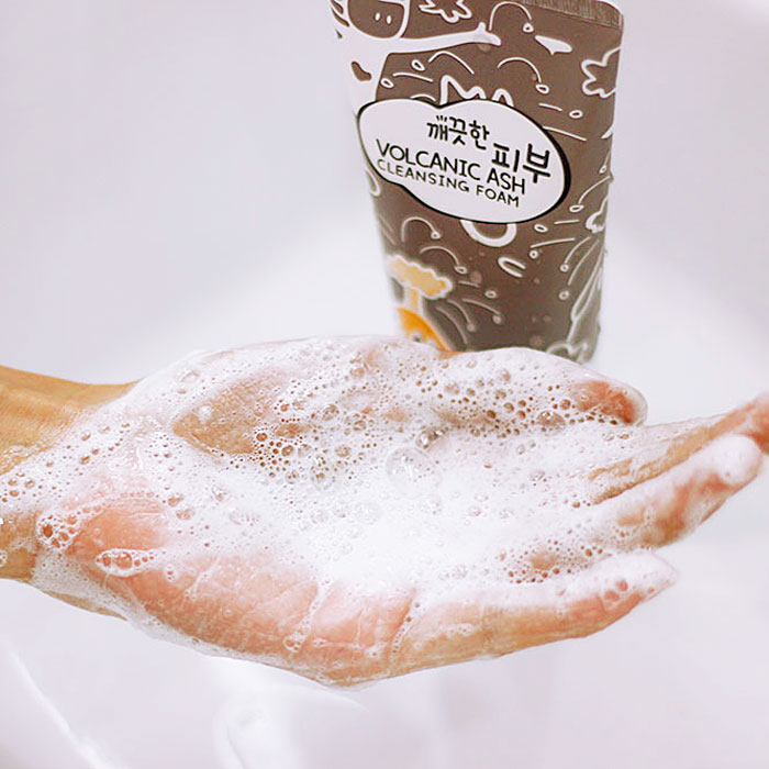 Esfolio Pure Skin Volcanic Ash Cleansing Foam Пенка для умывания с вулканическим пеплом фото 3 | Sweetness