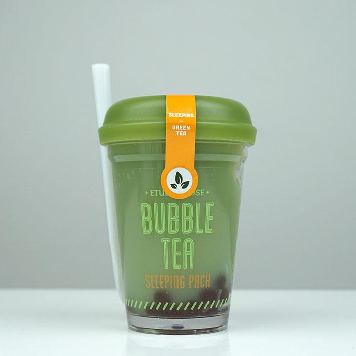 Etude House Bubble Sleeping Pack Green Tea Ночная очищающая маска с экстрактом зеленого чая фото 6 / Sweetness