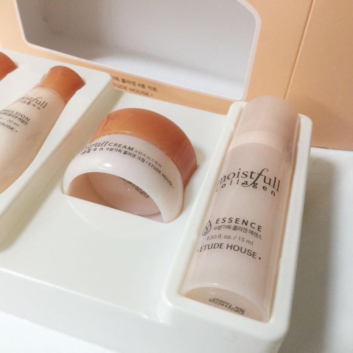 Etude House Moistfull Collagen Skin Care 4 Kit Набор миниатюр с коллагеном фото 4 / Sweetness